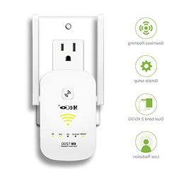 WiFi Range Extender, MECO AC1200 WiFi Repeater Dual Band Wi