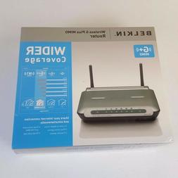 Belkin Wireless G Plus MIMO Router 54Mbps Wider Coverage 4-P