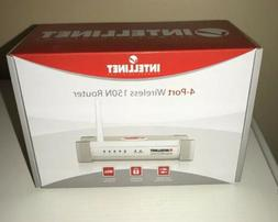INTELLINET Wireless 150N 4-Port Router with 2dBi Fixed-dipol