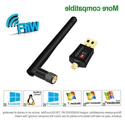 Wireless USB Wifi Adapter,Lesvieo 600Mbps Dual Band 2.4G/5G