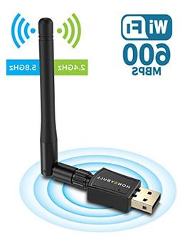 HoneyBull 600 Mbps Wireless USB WiFi Adapter  Dual Band USB