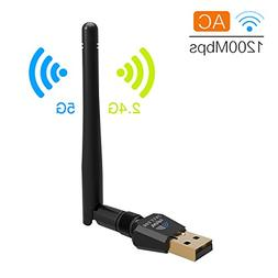 1200Mbps Wireless USB Wifi Adapter, DOSNTO WiFi Adapter for